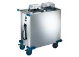 Distributeur d'assiettes chauffées (air pulsé)(+30°C à +110°C)